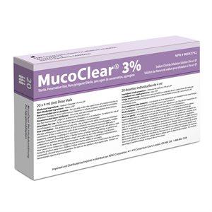 PARI, Mucoclear 3% NaCI Inhalation Solution, Qty 18 Boxes ( 20 x4 ml UDV )