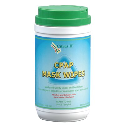 Citrus II CPAP Mask Wipes Cannister. 12pk