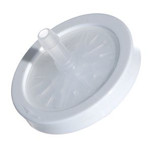 """Bacteria filter. concentrator. 50mm Disk. 1/4""""-1/4"""" connector. 25pk"""