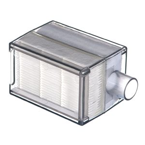Filter .hepa concentrator. clear rectangle housing. muffler. Devilbiss. 25pk