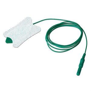 AMBU 714 Series Adhesive Ground Electrode 47mm x 30mm, 1 meter lead wire each