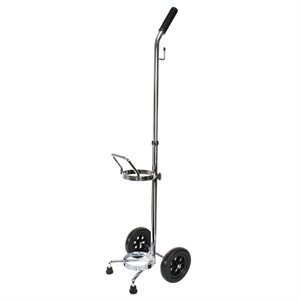 Cylinder Cart w/ Black Wheels, w/ Telescopic Handle, E/D x 1, Qty 1