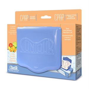 Contour Flat Pack CPAP Wipes, Citrus Scent 72 Wipes/Pack, Qty 12