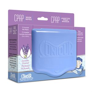 Contour Flat Pack CPAP Wipes, Lavender Scent 72 Wipes/Pack, Qty 12