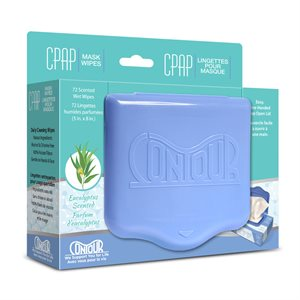 Contour Flat Pack CPAP Wipes, Eucalyptus Scent, 72 Wipes/Pack, Qty 12