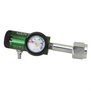 Oxygen Regulator CGA 540 Nut Style w/Hose Barb 0-15 lpm