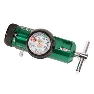 Oxygen Regulator Mini 870 Yoke Style w/hose barb 0-8lpm