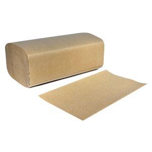 Paper Towels, Singlefold Kraft, 250 / Pack