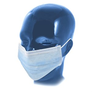 Mask - Blue, 3 Ply, Disposable Pleated, 50pk