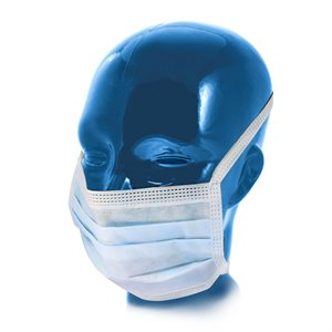 Mask-Blue Surgical Tie 50pk
