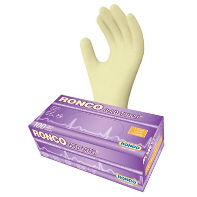 RONCO Gold Touch Synthetic Stretch Gloves, Powder Free, X-Large, Each