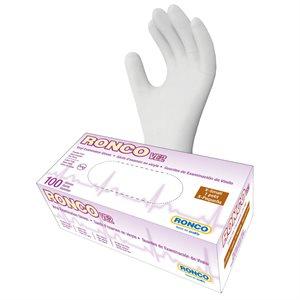 RONCO Vinyl Examination Gloves, Powder Free, Extra Small, (100 Gloves per Box)