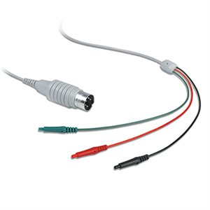 Dantec Shielded cable w/5-pin DIN plug and 2 x 0.7mm female connector, 1M Cable for NT-L1702/E Qty