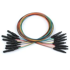 Dantec Single Lead Electrode Connector, Unshielded Cable w/ 0.7 mm, 1.5 mm TPC, 2 m (8 Pcs)