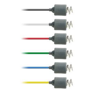 """Rhythmlink Disp. Corkscrew Needle Electrode, .6 mm (23 g.), lead 1.0 m (40"""") 6 colour Qty 12"""