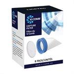 Licetec V-Comb, Capture Filters, 8 Pack