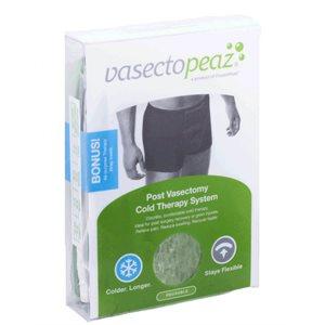 "VasectoPeaz Includes 3.25"" x 7.5"" FrozenPeaz Pak; Boxer Brief (for light compression); Flannel , LG"